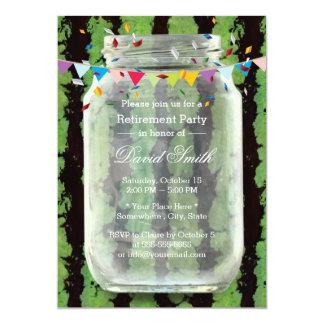 Summer Watermelon Mason Jar Retirement Party 13 Cm X 18 Cm Invitation Card
