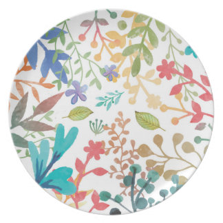 Summer Woodland Watercolor Plates