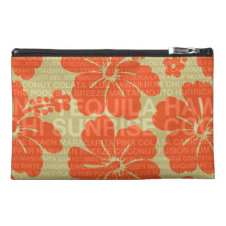 Summer Words Cocktails and Hibiscus Travel Accessories Bags