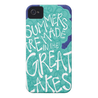 Summers Are Made In The Great Lakes - Blue iPhone 4 Case-Mate Cases
