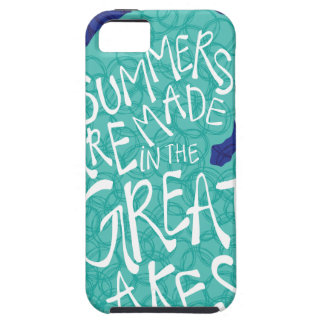 Summers Are Made In The Great Lakes - Blue Tough iPhone 5 Case