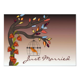 Summers End Just Married Card