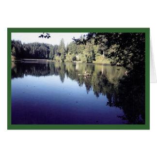 Summertime on Lake Sylvia - Blank Card