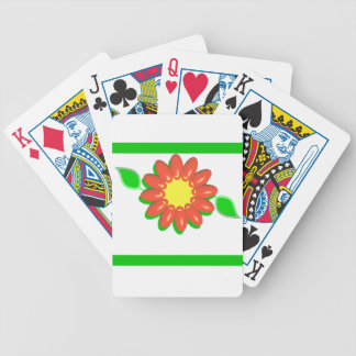 Summertime Orange and Yellow Flower Design Bicycle Playing Cards