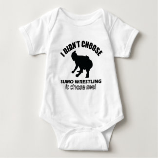 sumo wrestle design baby bodysuit