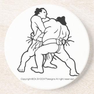 Sumo wrestling sumou drink coasters