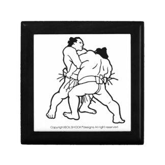 Sumo wrestling sumou small square gift box