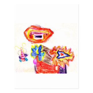 Sun and Flower1 jGibney The MUSEUM Artist Series K Postcards