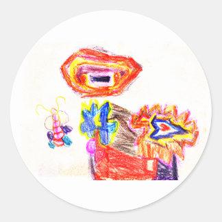 Sun and Flower1 jGibney The MUSEUM Artist Series K Round Stickers