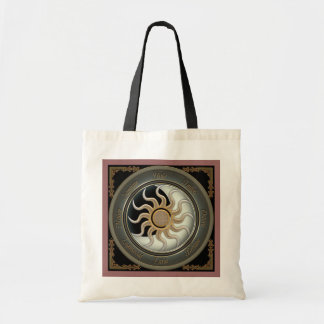 Sun and Moon Pagan Wheel Tote Bag
