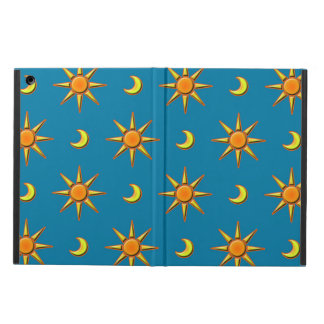 Sun and moon pattern ipad air case