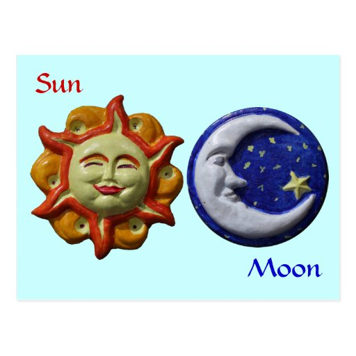 Sun and Moon Postcard