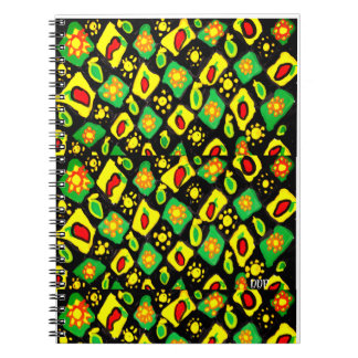 Sun and peppers spiral notebook