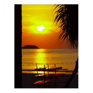 sun beach thailand postcard
