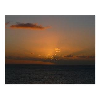 Sun Behind Clouds II Beautiful Seascape Post Cards