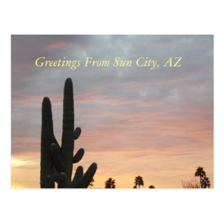 Sun City Sunset 1 Postcard