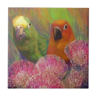 Sun Conures Parrots Tile