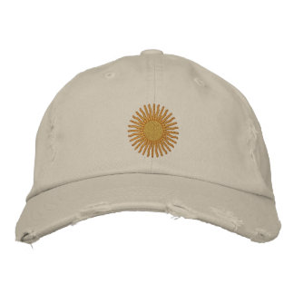 Sun Embroidered Cap
