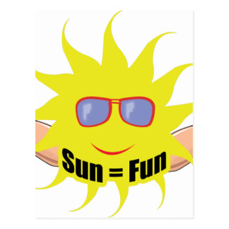 Sun Equals Fun Post Card