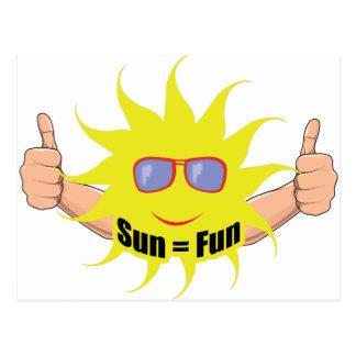 Sun Equals Fun Post Cards