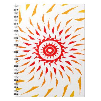 sun fire ball notebook