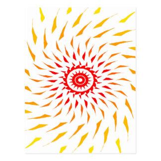 sun fire ball postcard