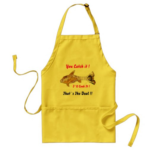 Sun Fish Abstract Funny Apron
