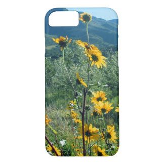Sun flowers at Raton Pass printed on a smart phone iPhone 7 Case