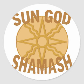 Sun God Shamash Classic Round Sticker