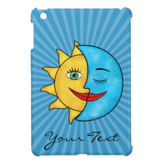 Sun Moon blue sky solar rays iPad Mini Covers