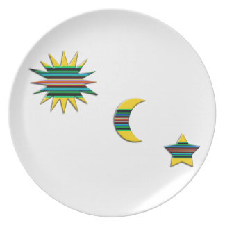 SUN MOON & STAR DINNER PLATE