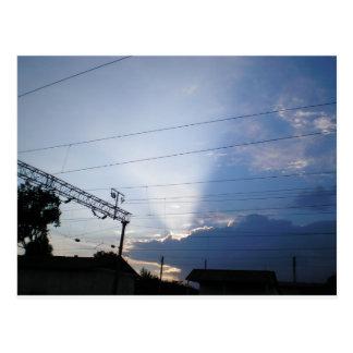Sun ray postcard