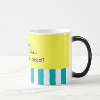 sun sea summer theme morphing mug