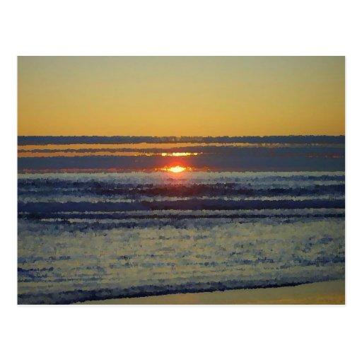 sun set post card