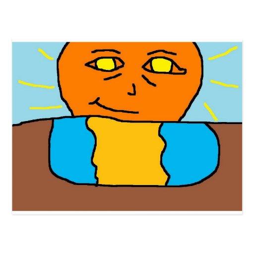 sun smile post cards
