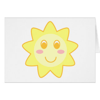 Sun Smiley Card