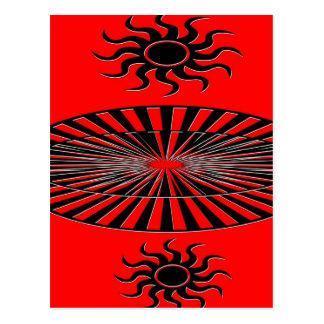 Sun Spirals Postcard