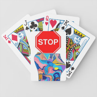 Sun Stop Sign Bicycle Playing Cards