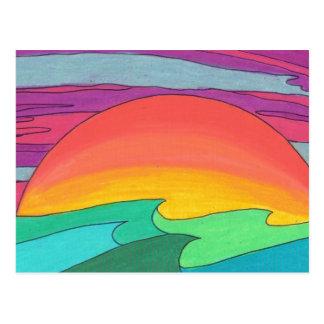 Sun Streaked Sky Postcard