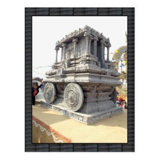 SUN temples of India miniature stone craft statue Postcard