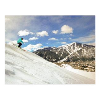 Sun Valley Idaho Skiing Postcard