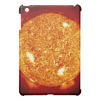 Sun with solar flares iPad mini cases