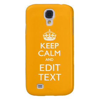 Sun Yellow Background Keep Calm And Your Text Galaxy S4 Case
