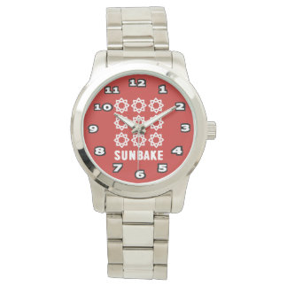 SunBake Oversized Silver Bracelet Watch