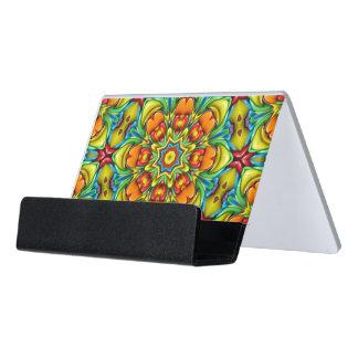 Sunburst Colorful Desk Business Card Holder