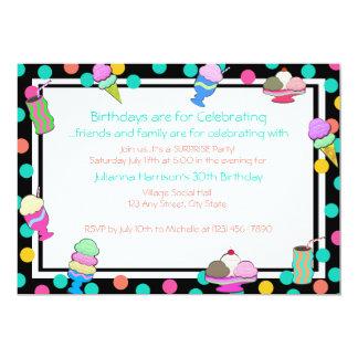"Sundae Shoppe Invite 5"" X 7"" Invitation Card"