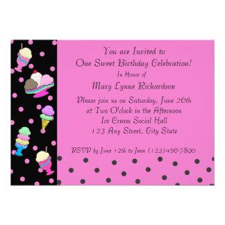 Sundae Shoppe Party Custom Invite