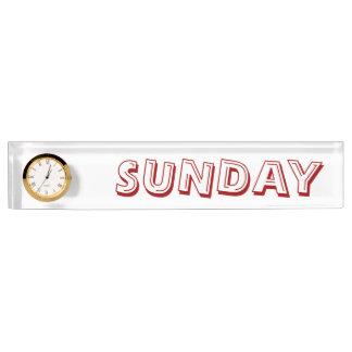 Sunday Alphabet Soup Font Desk Clock by Janz Desk Name Plate