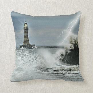 Sunderland - Roker Pier & Mowbray Gardens Throw Pillow