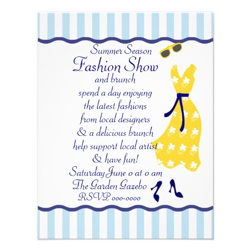 Sundress Fashion Show Custom Announcements